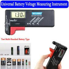 Universal Digital AA/AAA/C/D/9V/1.5V Button Cell Battery Volt Tester Checker New