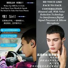 Bluetooth Stereo Ear Phones Waterproof High-Definition Dual Silicon Microphone