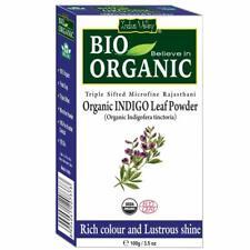 Indus Valley Bio Organic Indigo Leaf Powder Hair Color 100 gm Free Ship