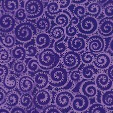 1 yard Basic Swirl Laurel Burch Clothworks cotton fabric Y1293-28 Dark Purple
