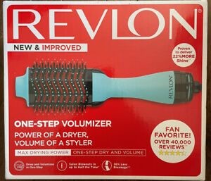 Revlon One-Step Hair Dryer + Volumizer Hot Air Brush Styler Blue+Black