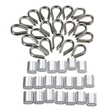 "20 Packs Thimble Hoop Standard 1/8"" Wire Rope 3 MM Standard Thimbles Ferrules"