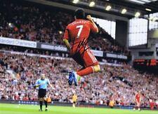 Liverpool legend Luis Suarez signed 16 x 12  goal celebration print