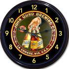 John Gund Brewing Co La Crosse WI Beer Tray Wall Clock Ale Lager Brew Man Cave