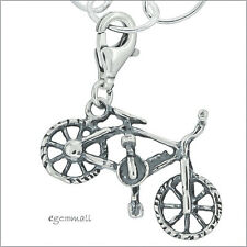 Sterling Silver Bike Bicycle Clip On Pendant Charm For European Bracelet #94072