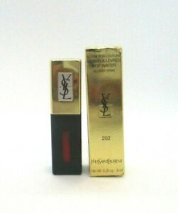 Yves Saint Laurent Rouge Pur Couture Pop Water Glossy Stain ~ 202 ~ 0.20 oz BNIB