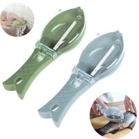 Kitchen Fish Scales Graters Scraper Fish Cleaning Tool Scraping Scales w/ Knife