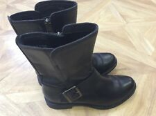Timberland black leather upper ankle boots size uk 4/37 with anti-fatigue