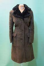 Schöner Lamm Fell Mantel GR ca 46/XL  Leder braun vintage shearling tailiert