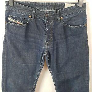 Diesel Waykee Men Jeans Blue W32 L32 Pure Cotton Denim Regular Straight