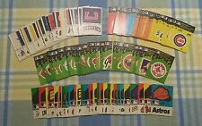 1982 Fleer Baseball Team Logo Stickers Set - (107 different stickers) FREE SHIP