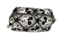 Disney Mickey Mouse Makeup Cases Toiletry Bag Grey/Black Travel Purse Zip Bags