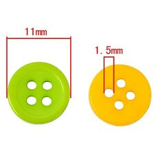 100Pcs Mixed Color 4 Holes Round Shape Resin Button for Sewing Scrapbook Craft