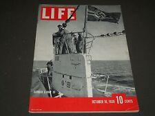 1939 OCTOBER 16 LIFE MAGAZINE - GERMAN U-BOAT COVER - L 152