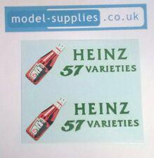 Dinky 920 923 Heinz Sauce Bottle Reproduction Waterslide Transfers Set