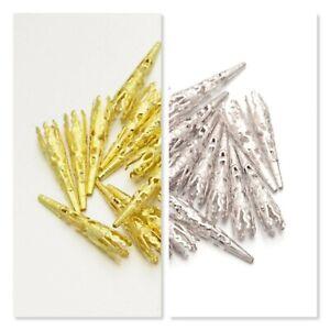 BUY 3 GET 3 FREE 6 7 8 9 10 14 15 22 42mm Metal Bead Caps  Filigree Flower Cone