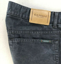 Canali Sportswear Mens Jeans Made in Italy Dark Blue Gray Straight Leg 38x31