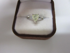 GORGEOUS ESTATE 14 KT GOLD 1.17 CTW FANCY LIGHT YELLOW  DIAMOND RING !!!!!!!