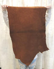 3-5 oz. Copper Buffalo Leather Hide for Native Crafts Moccasins Laces Bags