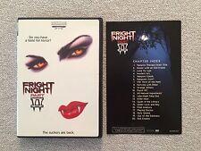 Fright Night Part 2 DVD Rare Horror Artisan Vampire Cult II 1988 Halloween Vamp