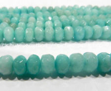 Faceted 5x8mm Amazon Gemstone Rondelle Loose Beads 15inch
