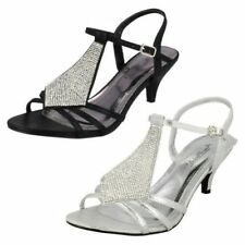 Anne Michelle Buckle Synthetic Heels for Women