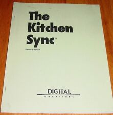 The Kitchen Sync Owner's Manual for IBMAT Compatible Computers Commodore Amiga