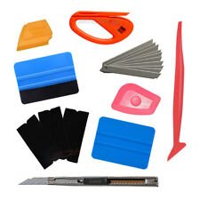 "Car Window Tint Tools 4"" Wrap Vinyl Micro Squeegee Scraper Cutter Blades Set Kit"