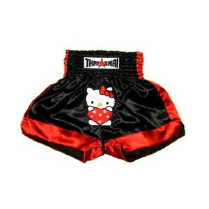 Kitty Cat Heart Women Girls Lady Kick Boxing Muay Thai Shorts Valentine Mma Pant