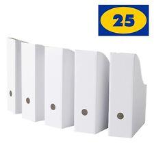 Ikea Flyt White Magazine File Holders Pack Of 25 Corrugated Paper Organizer