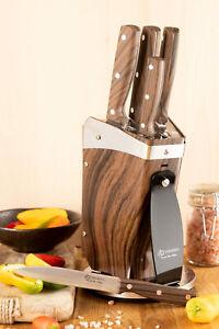 Küchenmesser Set - 8 Tlg mit Dreh Ständer 360° Messerblock scharf  Edenberg