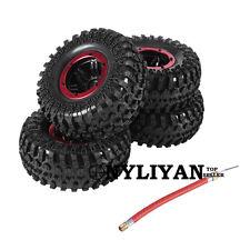 4x Inflatable Pneumatic Tires W/Alloy Beadlock Wheels For 1/10 SCX10 Crawler Car