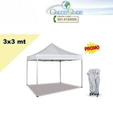 Gazebo pieghevole impermeabile in alluminio 3x3m Colore Bianco - Mod. Promo !!!