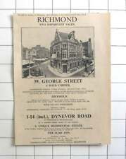 1936 Richmond Residential Estate For Sale, Dynevor Road, Income £1360 P.a.