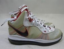 Nike Air Max LEBRON VIII 8 V/2 GS WHITE BLACK SPORT RED GREY 431888-100 Size 6 p