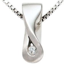 Echtschmuck-Halsketten & -Anhänger aus Sterlingsilber mit Brilliantschliff für Damen