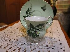 Elizabethan Fine Bone China Lilies Of The Valley Cup And Saucer