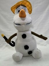 "Talking Singing Animated Disney Frozen OLAF Snowman 13"" Plush Just Play Hat Cane"