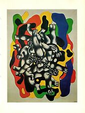 "1976 Vintage FERNAND LEGER ""THE DIVERS II"" FABULOUS COLOR offset Lithograph"