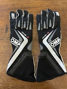 OMP One S FIA & SFI Approved Silicone Rubber Race / Rally Gloves Size M / 10