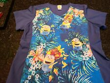 Despicable Me Cute Minion Size extra large Women's scrub top