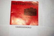 Leica Leitz R3 Slr Camera Instruction Manual Guide Book Genuine Original Leica
