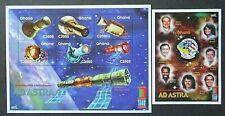 Ghana 2000 EXPO 2000-Manned Spacecraft Set & Mini Sheet UM.