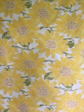 Pottery Barn Sunflower Full Queen Organic Cotton Duvet Cover