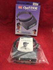 NEW DONEGAN OPTICAL OptiVisor Glass Binocular Magnifier Headband DA-4