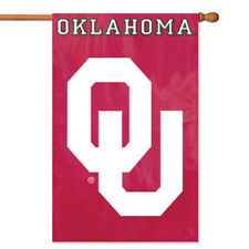 Oklahoma Sooners House Banner Flag PREMIUM Outdoor DOUBLE SIDE Embroidered