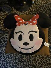 NEW Disney Emoji Plush Minnie Pillow
