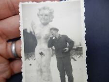 WW2 NORWAY  ? BASHFUL GERMAN  SNOW EROTIC FRAULEIN    SNOWMAN / WOMAN LUFTWAFFE