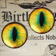 Yellow Cat Eyes Glass Taxidermy Eyeballs 25mm 1""