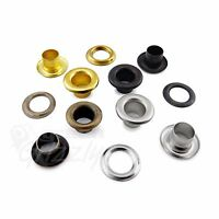 5 mm steel eyelets grommet with washers in nickel oxide gold antique brass, ANV